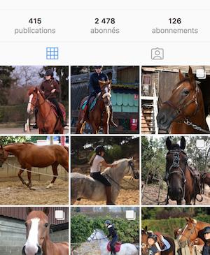 randonnée cheval sur instagram